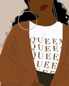 Black Girl Art, Black Women Art, Black Girl Fashion, Black Girl Magic, Art Girl, Aesthetic Women, Black Girl Aesthetic, Brown Aesthetic, Aesthetic Art