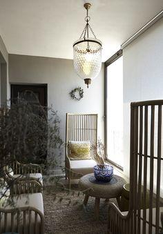 Gentlemen | Balcony | Outdoor living | Bamboo | Seating | Apartment | Interior design | Etienne Hanekom Interiors