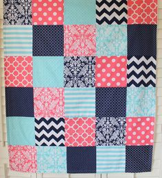 Baby Girl Blanket Minky Blanket Nursery Decor by theredpistachio