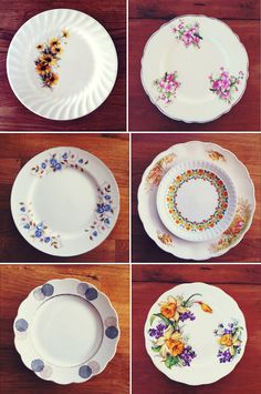 Vintage Plates-LOVE the one on the top right!! :)