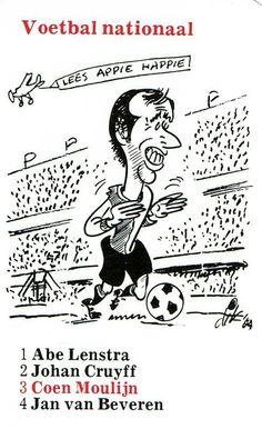 3 Nationaal Coen Moulijn Retro Football, Football Design, Caricatures, Album, Game, Character, Beautiful, Trading Cards, Gaming