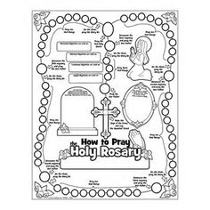Childmysteries Of The Rosary Coloring Pages For Kids spiritual