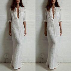 Sexy Women Summer Loose Boho Evening Party Dress Beach Long Maxi Dresses LXL01
