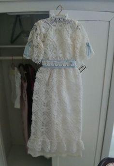 Dollhouse miniature 1:12th / beautiful lace dress / OOAK Artist made