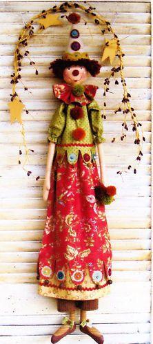 Pattern Bellatrix Fun Cloth Doll Pattern from Country Keepsakes | eBay