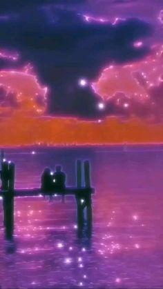 😍beautiful sunset aesthetic😍