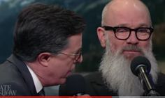 Michael Stipe And Stephen Colbert Sing 'End Of The YEAR As We Know It'