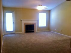 The spacious living room in a 1/1 Penthouse! Think of the Super Bowl parties you could throw in this space!
