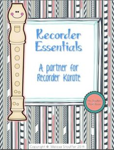 A Recorder Method book. Stand alone or supplement Recorder Karate.