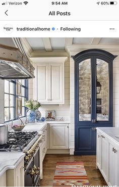 Designer Matthew Quinn Calls on Modern Elements Like Bold Color to Put a Twist on the Traditional Kitchen — Traditional Home Modern Traditional Decor, Traditional Home Magazine, Traditional House, Traditional Decorating, Traditional Kitchens, Traditional Design, Neutral Kitchen Designs, Interior Design Kitchen, Interior Decorating