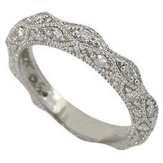Antique Wedding Band - I love antique rings! Antique Rings, Vintage Rings, Vintage Jewelry, Vintage Diamond, Armband Vintage, Wedding Jewelry, Wedding Rings, Bling Wedding, Trendy Wedding