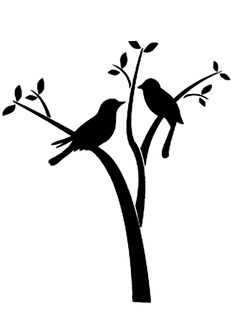 A3 sized birds on a branch stencil for our art bootcamp 2013 - artworx.co