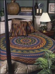 Round We Go round crochet rug pattern