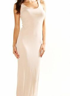 ustrendy, Kami Shade Cream Racerback Maxi Dress,  Dress, party dress  summer dress  maxi dress, Chic