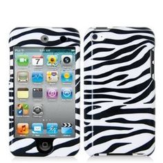 Zebra Hard Crystal Skin Case Cover Accessory for Apple Ipod Touch 4th Generation 4g 4 8gb 32gb 64gb By Electromaster