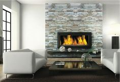 stone fireplace tile and white - Bing Images