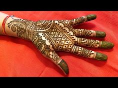 EASY MEHNDI FULL HAND DESIGN 2019 FOR WEDDINGS - YouTube Full Hand Mehndi Designs, Mehndi Designs For Girls, Simple Mehndi Designs, Henna Tattoo Designs, Mehandi Designs, Mehendi Simple, Easy Mehndi, Henna Mehndi, Hand Henna