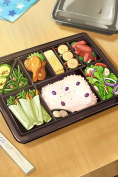 Anime Scenery Wallpaper, Food Wallpaper, Kawaii Wallpaper, Cute Food Art, Cute Art, Aesthetic Food, Aesthetic Anime, Anime Bento, Cute Food Drawings