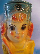1930s Carnival Chalkware Majorette Baton Girl Red Haired ~ Large Piece