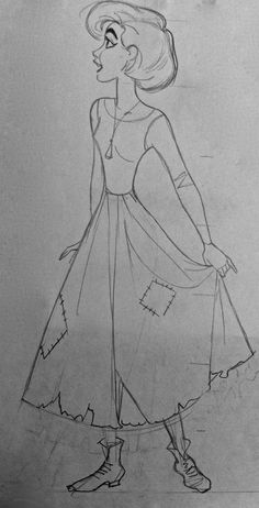 Film: Anastasia ===== Rough Sketch: Anya/Anastasia =====  My Notes: The proportions definitely need to be worked with, but I kind of like the short hair.