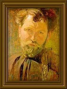 Alphonse Mucha  Moped Randy w/ beard?