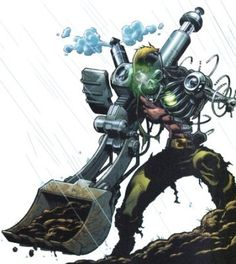 Metallo is a radioactive cyborg intelligence who depends on Green Kryptonite as his energy source, making him an enemy of Superman. He is a former soldier who was used in experimentation by the United States Army, eventually giving him the ability to project his consciousness into any technological device. His powers also include the ability to morph the machinery in his body accordingly.