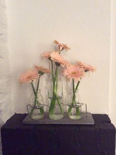 Gerber Daisy Gerber Daisies, Glass Vase, Daisy, Flowers, Home Decor, Decoration Home, Gerbera, Room Decor, Margarita Flower