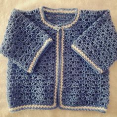 Discover thousands of images about Jersey o chambrita de bebe a crochet 2 parte Baby Cardigan, Crochet Cardigan, Crochet Yarn, Knit Crochet, Baby Patterns, Crochet Patterns, Crochet For Boys, Crochet Videos, Crochet For Beginners