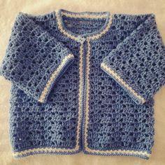Jersey o chambrita de bebe a crochet #tutorial #DIY 1 parte