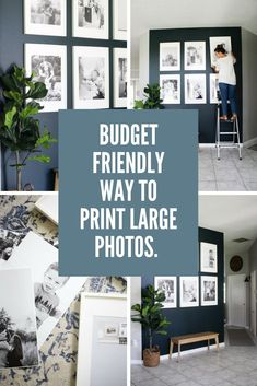 Printing Poster Size Images for a Gallery Wall Dining Room Decor large dining room wall decor Large Photo Prints, Gallery Wall Frames, Ikea Gallery Wall, Gallery Walls, Gallery Wall Staircase, Cheap Furniture Stores, Dining Room Wall Decor, Dining Rooms, Hallway Wall Decor