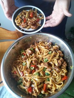 [Homemade] General Tso Chicken pasta salad #food #foodporn #recipe #cooking #recipes #foodie #healthy #cook #health #yummy #delicious