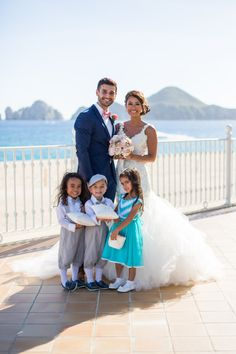 """TODAY ON THE BLOG:  A look at bride Karen's custom """"Wisteria"""" gown and her exotic destination wedding in Cabo San Lucas, Mexico! See the stunning collection of images and read the story here: http://blog.lauren-elainedesigns.com/2015/12/11/karens-wisteria-in-paradise/"""