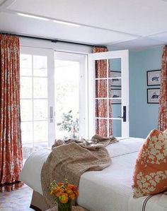 Turquoise and Orange Interior Color Palettes Orange-Pale-Blue-Bedroom-Interior – Newport Coast Interior Design