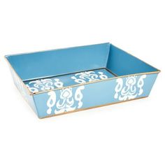 Check out this item at One Kings Lane! Letter Tray, Ikat Blue