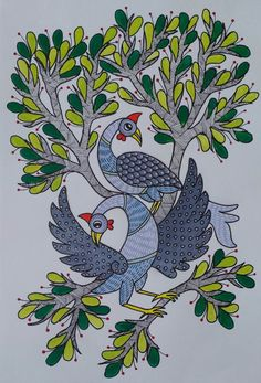 Mysore Painting, Worli Painting, Madhubani Paintings Peacock, Madhubani Art, Pichwai Paintings, African Art Paintings, Mandala Artwork, Indian Folk Art, Art Inspiration Drawing