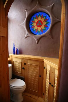 circle window thing - I love the bathroom Cob Building, Green Building, Building Design, Building A House, Earthship Design, Earthship Home, Sustainable Architecture, Residential Architecture, Contemporary Architecture
