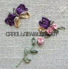 Tutorial: Silk-ribbon butterflies – Needle Work