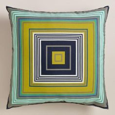 One of my favorite discoveries at WorldMarket.com: Riviera Mitered Stripe Outdoor Throw Pillow