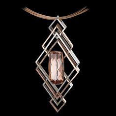 Adam Neely venezia white/rose gold diamond pendant.