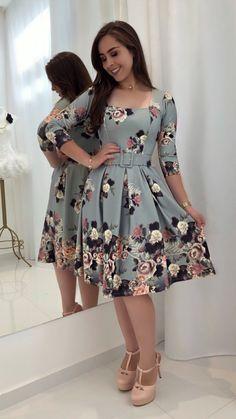 midi dresses ideas for dream fashion dresses Flowery Dresses, Modest Dresses, Elegant Dresses, Cute Dresses, Beautiful Dresses, Casual Dresses, Short Dresses, Midi Dresses, Trend Fashion