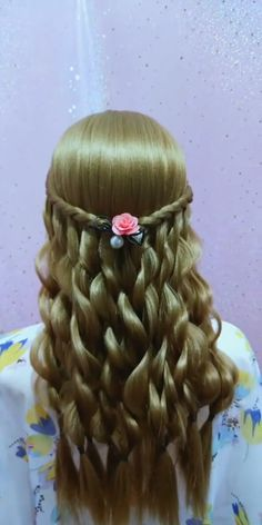 Hair Up Styles, Medium Hair Styles, Headband Hairstyles, Braided Hairstyles, Down Hairstyles For Long Hair, Hair Style Vedio, Hairstyle Tutorial, Hair Tutorials For Medium Hair, Hair Videos