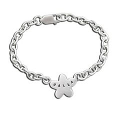 Sterling Silver Baby's Spring Flower Name ID Bracelet Spring Flowers Names, Flower Names, Sterling Silver Jewelry, Silver Rings, Baby Bracelet, Id Bracelets, Christening Gifts, Chain, Israel