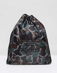 52eb80a4d72e adidas Originals Drawstring Bag In Camo BQ6102 by adidas