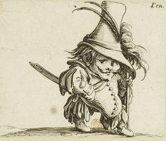 Jacques Callot – Les Gobbi: Hombre de vientre caído y sombrero elevadísimo (162?)