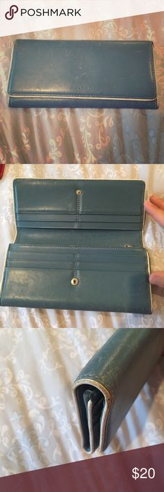 Blue coach wallet Blue coach wallet. It has been very loved so please look at the pictures Coach Bags Wallets