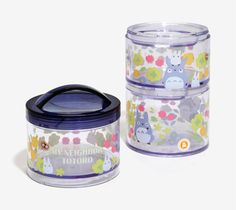 Stackable My Neighbor Totoro containers that will entice you to make and pack your lunch every day. | 32 Cute Kitchen Products That'll Actually Make You Want To Cook