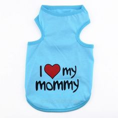 """2015 New Pet Dog Clothes Cotton Sportwear Vest Cool Clothes for Dogs Clothing Hot Sale! """"I love my mommy/daddy"""" Y50*MHM640#M6"""