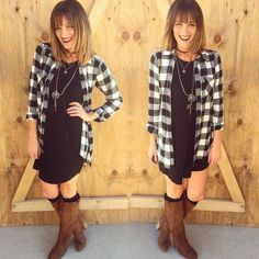 flannel button down tunic shirt in buffalo plaid | maurices