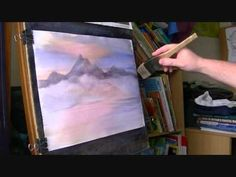 Learn How to Paint Mountains in Watercolor #1 - YouTube