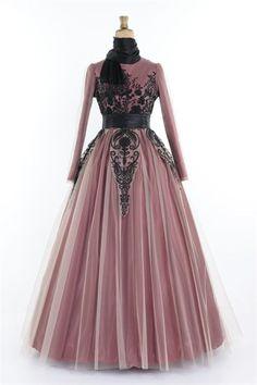Ayşe Melek Tarlatanlı Abiye Elbise Bordo 1091
